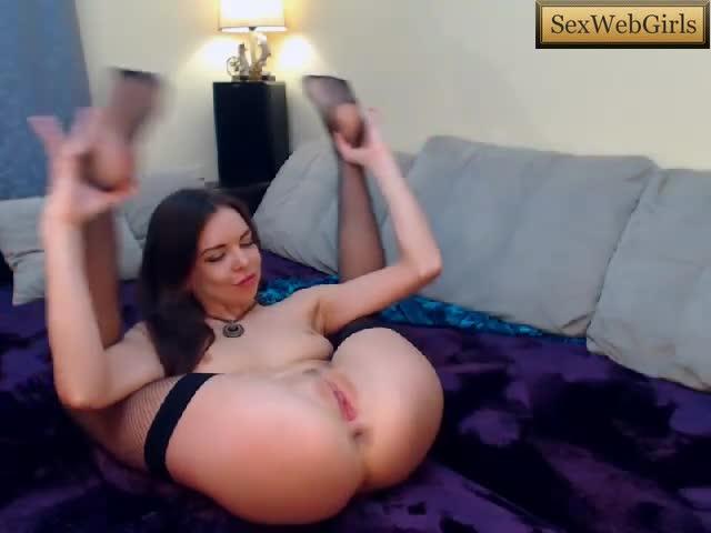 Brunette russian doing striptease